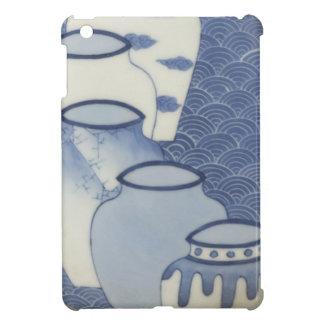 Japan,Storage Jar and Wave Design Nabeshima-style Cover For The iPad Mini