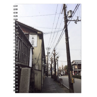 Japan Street Power lines notebook