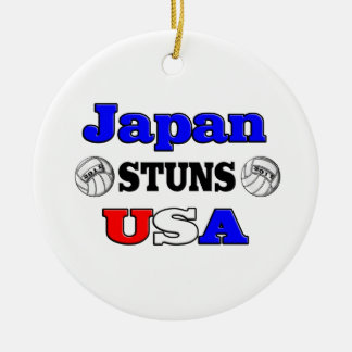 Japan Stuns USA 2011 Ceramic Ornament