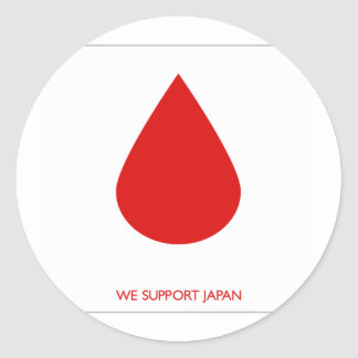 JAPAN SUPPORT - EARTHQUAKE CLASSIC ROUND STICKER