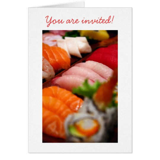 Japan Sushi Collection Invitation