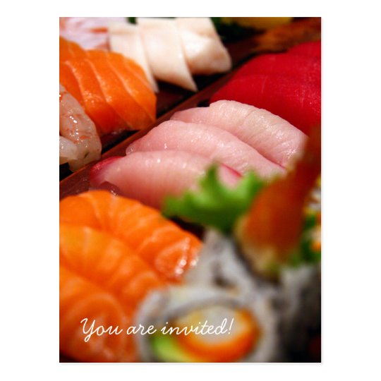 Japan Sushi Collection Invitation Postcard