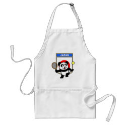 Apron with Japanese Tennis Panda design