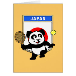 Greeting Card with Japanese Tennis Panda design