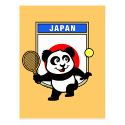 Postcard with Japanese Tennis Panda design