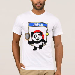 Men's Basic American Apparel T-Shirt with Japanese Tennis Panda design