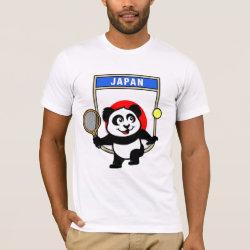 Men's Basic American Apparel T-Shirt with Japanese Tennis Panda design