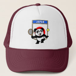 Trucker Hat with Japanese Tennis Panda design
