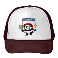 Trucker Hat with Japanese Tennis Panda design