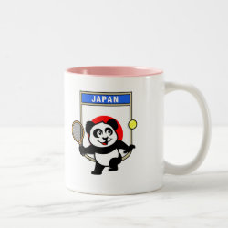 Two-Tone Mug with Japanese Tennis Panda design