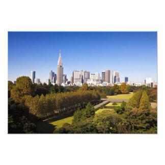 Japan. Tokyo. Shinjuku District Skyline and Photo Print