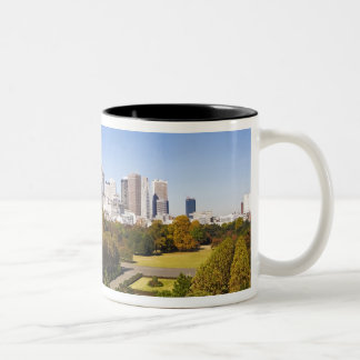 Japan. Tokyo. Shinjuku District Skyline and Two-Tone Coffee Mug