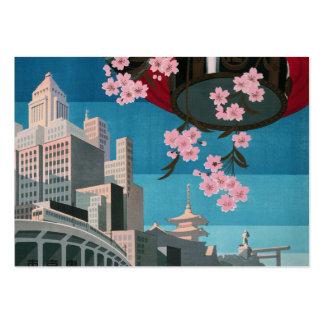 Japan Tokyo Vintage Japanese Travel Poster Business Card