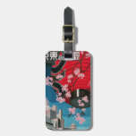 Japan Tokyo Vintage Japanese Travel Poster Tag For Bags