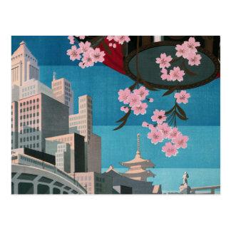 Japan Tokyo Vintage Japanese Travel Poster Postcards