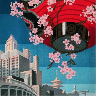 Japan Tokyo Vintage Japanese Travel Poster Statuette