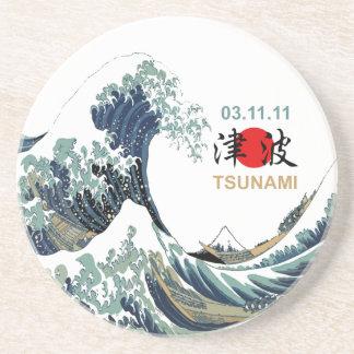 Japan Tsunami 2011 Drink Coaster