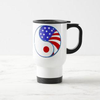 Japan USA Yinyang travel mug