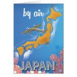 Japan vintage travel poster card