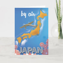 Japan vintage travel poster holiday card