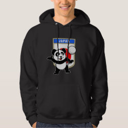 Japanese Volleyball Panda Men's Basic Hooded Sweatshirt