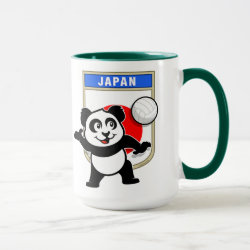 Combo Mug with Japanese Volleyball Panda design
