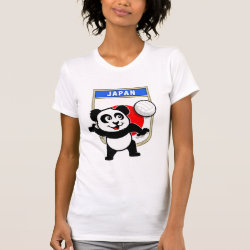 Women's American Apparel Fine Jersey Short Sleeve T-Shirt with Japanese Volleyball Panda design