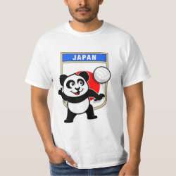 Men's Crew Value T-Shirt with Japanese Volleyball Panda design