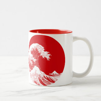 Japan Wave Two-Tone Coffee Mug