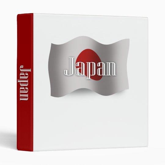 Japan Waving Flag 3 Ring Binder