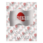 Japan Waving Flag Custom Invitations