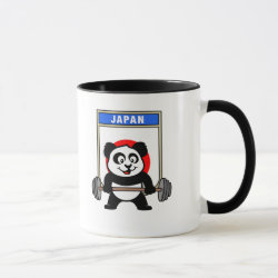 Combo Mug with Japanese Weightlifting Panda design