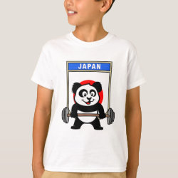 Kids' Hanes TAGLESS® T-Shirt with Japanese Weightlifting Panda design