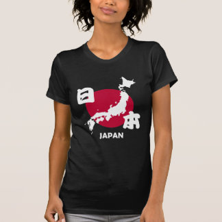 Japan with map and flag tshirts