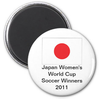 Japan Women's World Cup Soccer Winners Magnet