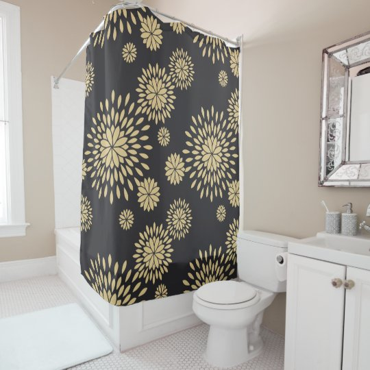 Japan yellow floral flowers shower curtain zazzle yellow floral flowers shower curtain mightylinksfo