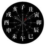 Japan zodiac signs style [black face] wallclocks