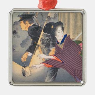 Japanese, active turn of 20th century Hamada Josen Metal Ornament