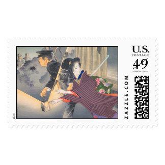 Japanese, active turn of 20th century Hamada Josen Postage