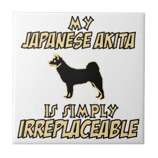 Japanese akita DOG designs Ceramic Tile