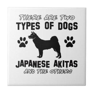 japanese akita dog Designs Tile