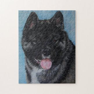 Japanese akita dog portrait realist art jigsaw puzzle