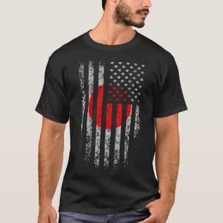 Japanese American Flag Grunge T-Shirt