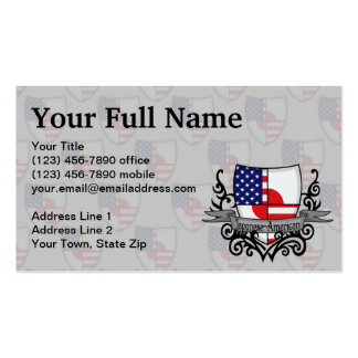 Japanese-American Shield Flag Double-Sided Standard Business Cards (Pack Of 100)