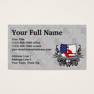 Japanese-American Shield Flag Business Card