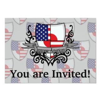 Japanese-American Shield Flag Card