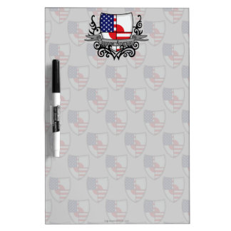 Japanese-American Shield Flag Dry Erase Board