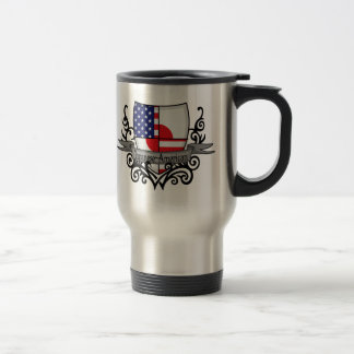 Japanese-American Shield Flag 15 Oz Stainless Steel Travel Mug