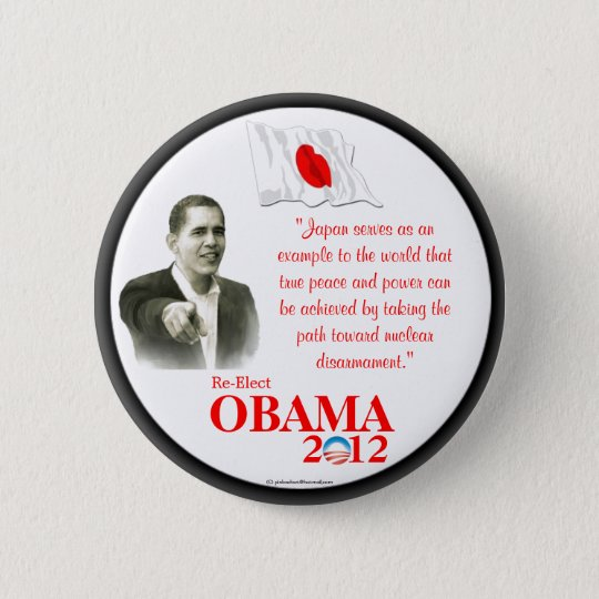 Japanese-Americans for OBAMA 2012 political pinbac Button