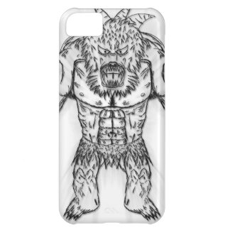 Japanese Ancient Beast Tattoo Art Case For iPhone 5C